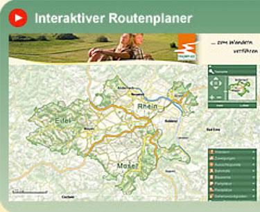 Interaktiver Routenplaner